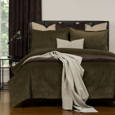 Duvet Cover Set from the Mixology Collection - Twin Size - Chive