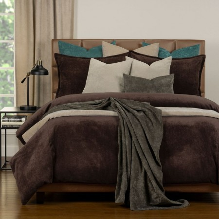 Duvet Cover Set from the Mixology Collection - King Size - Coffee Bean