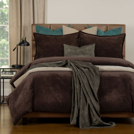 Duvet Cover Set from the Mixology Collection - Twin Size - Coffee Bean