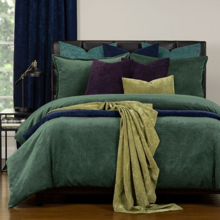 Duvet Cover Set from the Mixology Collection - King Size - Emerald Green