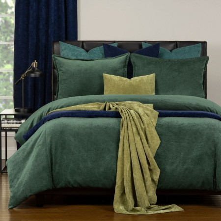 Duvet Cover Set from the Mixology Collection - Twin Size - Emerald Green