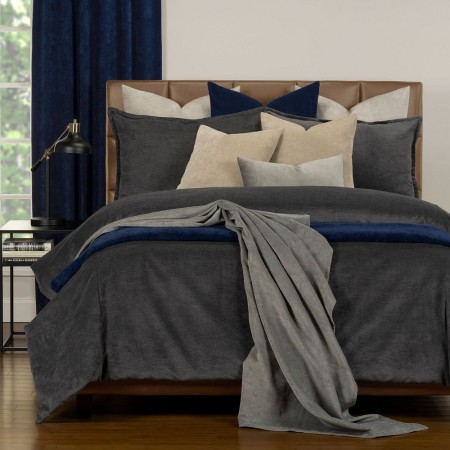 Duvet Cover Set from the Mixology Collection - King Size - Iron