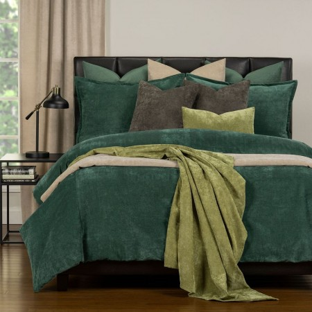 Duvet Cover Set from the Mixology Collection - King Size - Jungle Green