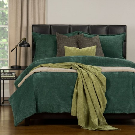 Duvet Cover Set from the Mixology Collection - Full Size - Jungle Green