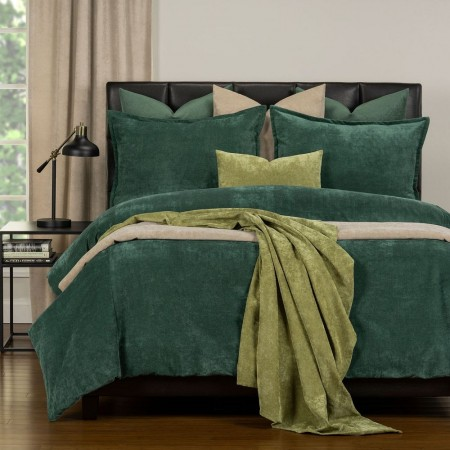Duvet Cover Set from the Mixology Collection - Twin Size - Jungle Green