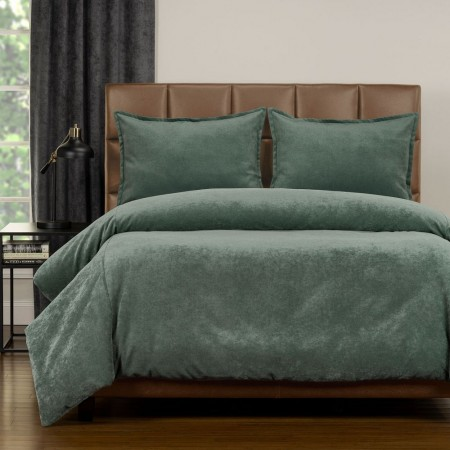 Duvet Cover Set from the Mixology Collection - Queen Size - Lagoon Green
