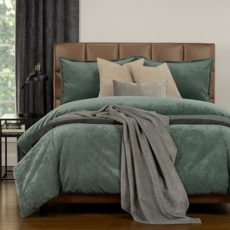Duvet Cover Set from the Mixology Collection - Full Size - Lagoon Green