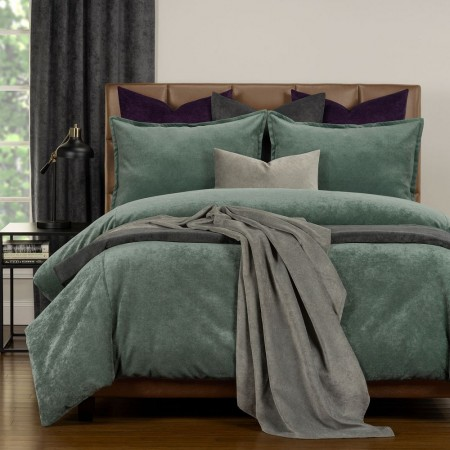 Duvet Cover Set from the Mixology Collection - Twin Size - Lagoon Green