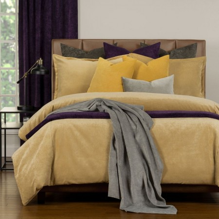 Duvet Cover Set from the Mixology Collection - King Size - Old Gold