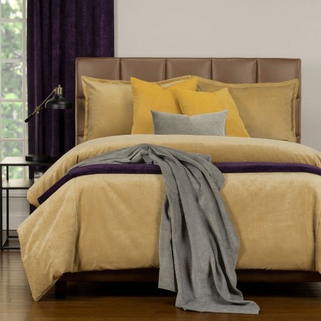 Duvet Cover Set from the Mixology Collection - Full Size - Old Gold