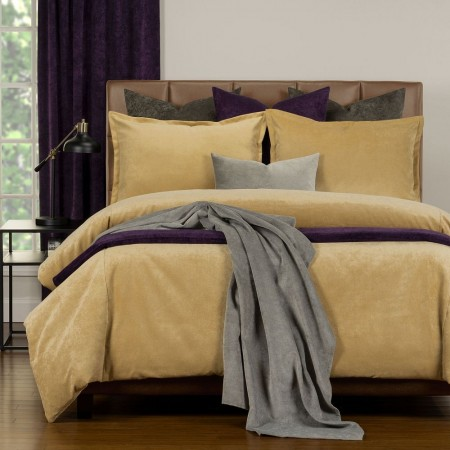 Duvet Cover Set from the Mixology Collection - Twin Size - Old Gold