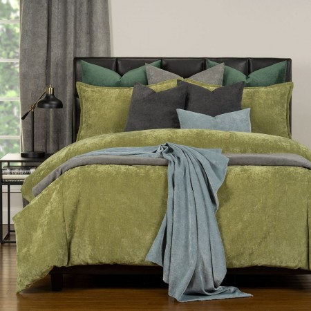 Duvet Cover Set from the Mixology Collection - Queen Size - Olive