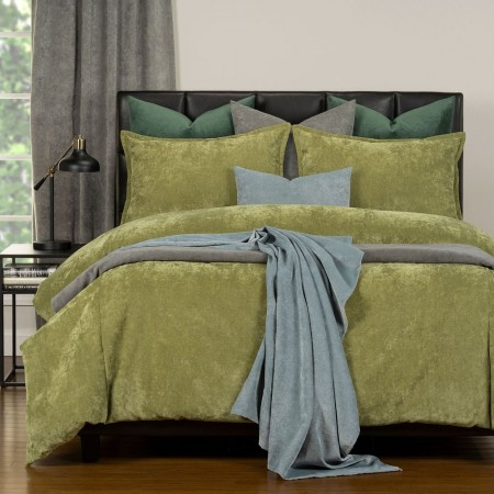 Duvet Cover Set from the Mixology Collection - Full Size - Olive