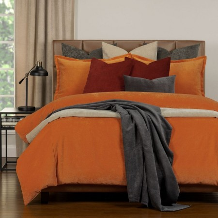 Duvet Cover Set from the Mixology Collection - Queen Size - Orange
