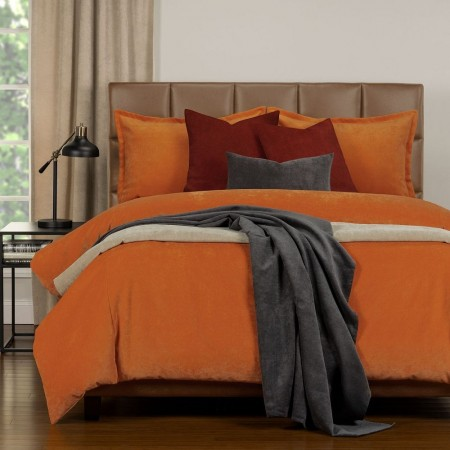 Duvet Cover Set from the Mixology Collection - Full Size - Orange