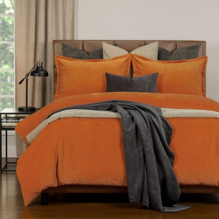 Duvet Cover Set from the Mixology Collection - Twin Size - Orange