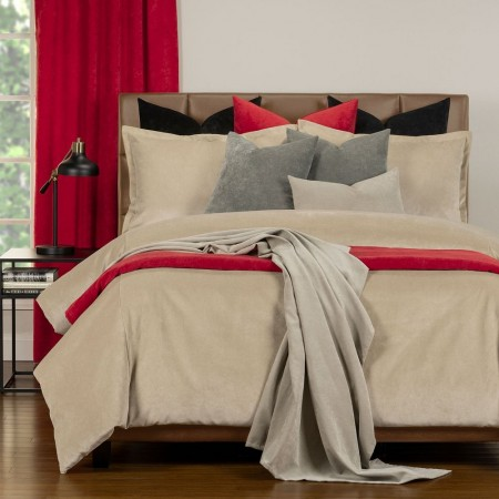 Duvet Cover Set from the Mixology Collection - Queen Size - Parchment