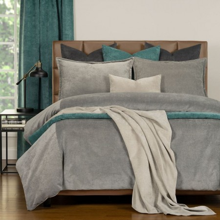 Duvet Cover Set from the Mixology Collection - Twin Size - Smoke