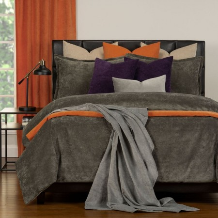 Duvet Cover Set from the Mixology Collection - King Size - Umber