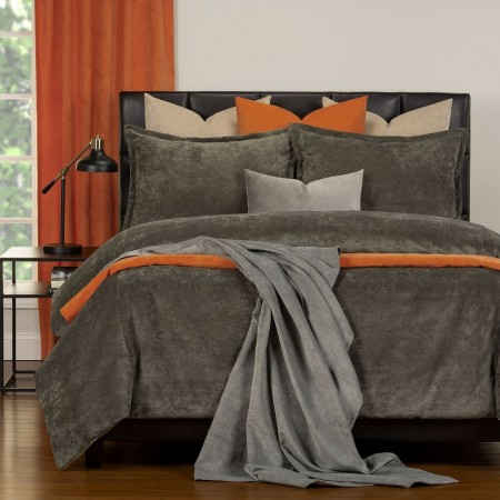 Duvet Cover Set from the Mixology Collection - Twin Size - Umber