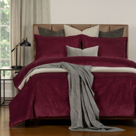 Duvet Cover Set from the Mixology Collection - Twin Size - Wine