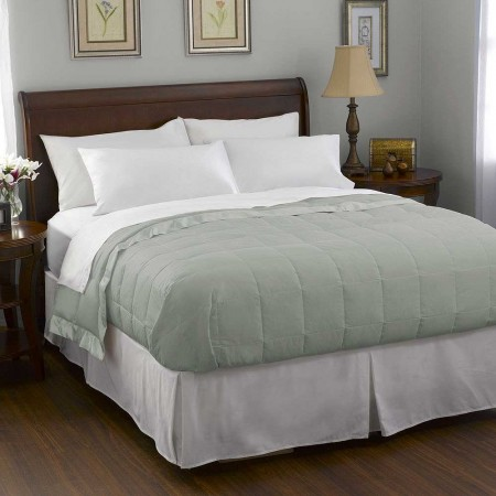 Pacific Coast Satin Trim Down Blanket - Clover - Queen Size