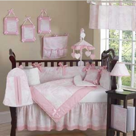 Pink French Toile Crib Set by Sweet Jojo Designs