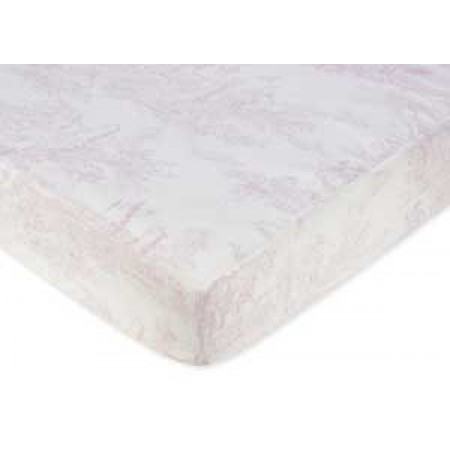Pink French Toile Crib Sheet