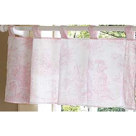 Pink French Toile Valance
