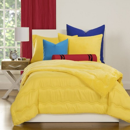 Crayola Playful Plush Comforter Sets - Choose from 7 Colors