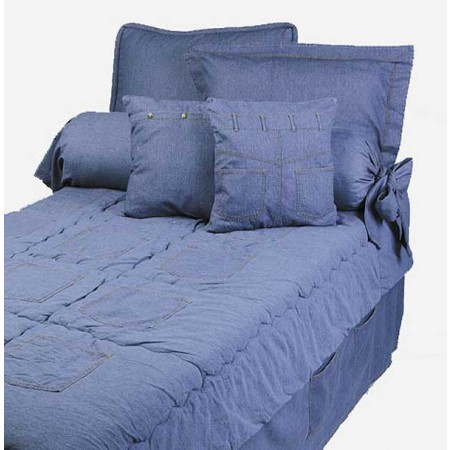 Stonewash Denim Bunkbed Hugger Comforter by California Kids