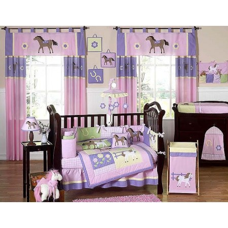 Pony 11 Piece Bumperless Crib Set by Sweet Jojo Design