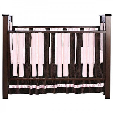 Wonder Bumper Vertical Crib Liners - Pink & Chocolate Brown - 38 Pack