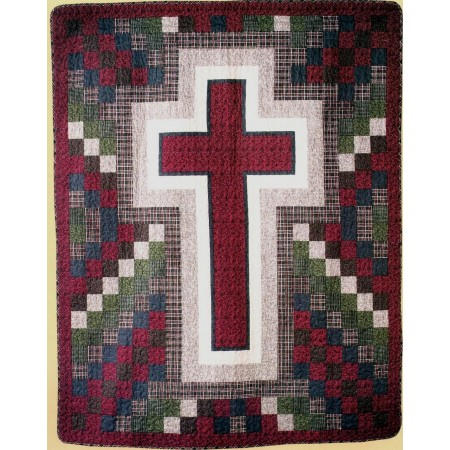 Rustic Cross Throw Size Quilt - On Sale