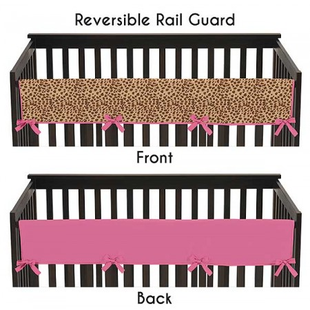 Cheetah Pink Collection Long Rail Guard Cover