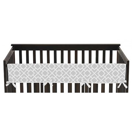 Diamond Gray & White Collection Long Rail Guard Cover
