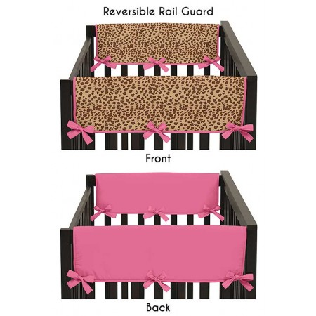 Cheetah Pink Collection Side Rail Guard Covers - Set of 2