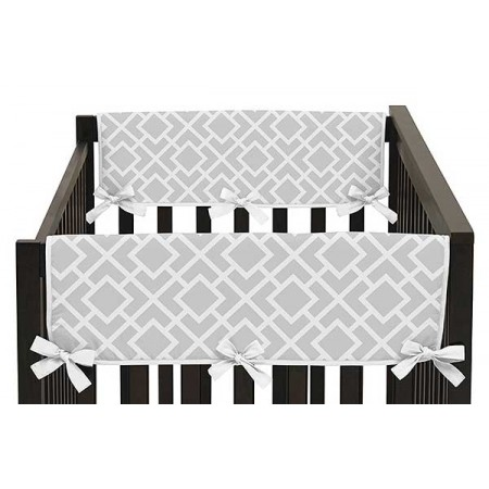Diamond Gray & White Collection Side Rail Guard Covers - Set of 2