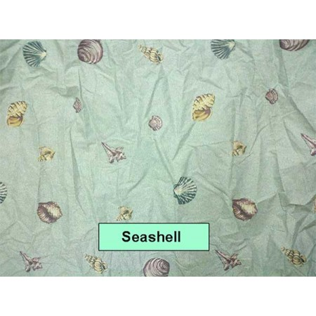 Seashell Print Bunkbed Sheets - Twin Size - Left Opening