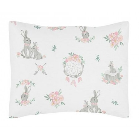 Bunny Floral Pillow Sham