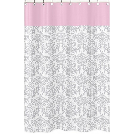 Elizabeth Pink and Gray Shower Curtain