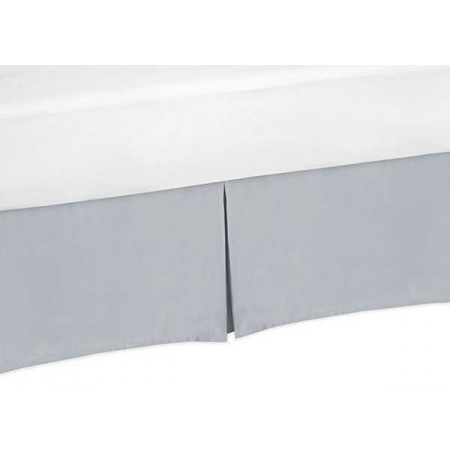 Solid Grey Bedskirt - Twin Size