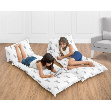 Stag Gray & White Pillow Case Lounger
