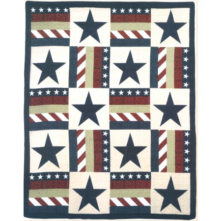Star Spangled Banner Throw Size Quilt