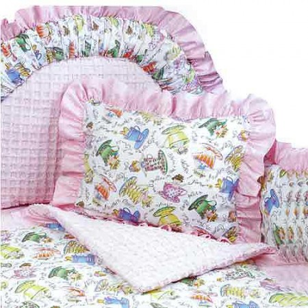 Tea Party 4 Piece Standard Crib Bedding Set by California Kids