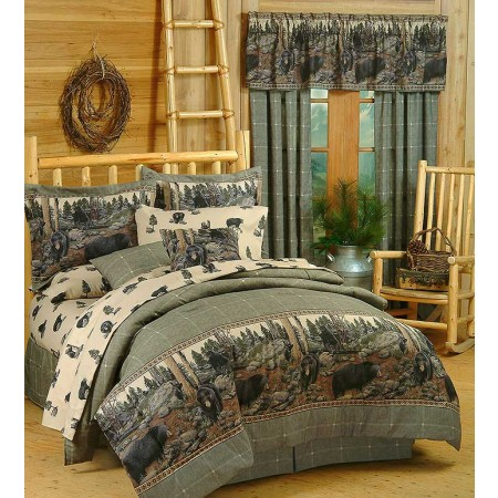 The Bears Cabin Themed Comforter Set - Twin Size