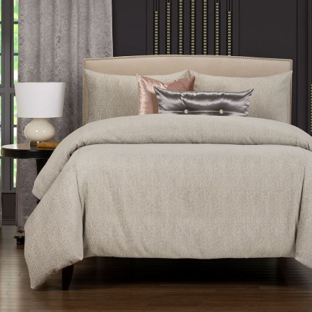 Times Square Platinum Comforter Set - - F. Scott Fitzgerald Primo Collection