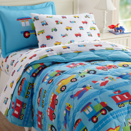 Trains, Planes & Trucks 5 pc Bed in a Bag - Twin *