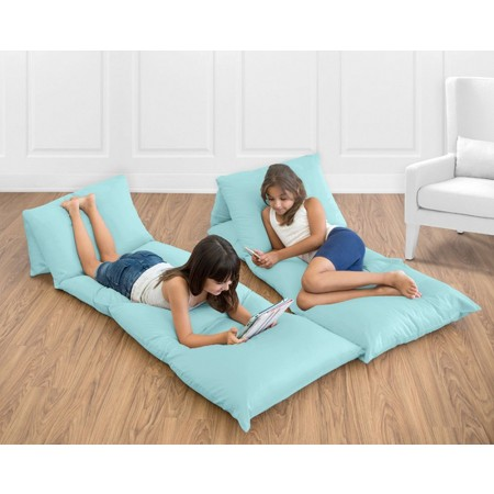 Solid Turquoise Pillow Case Lounger