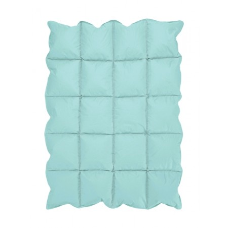 Turquoise Blue Down Alternative Comforter / Blanket - Crib Size